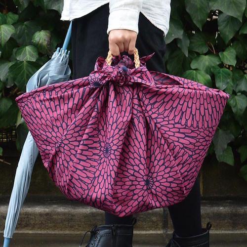 100 Isa monyo Water-repellent   Chrysanthemum Purple bag
