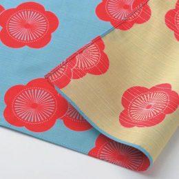104 Isa monyo Reversible | Japanese Apricot Blue:Beige
