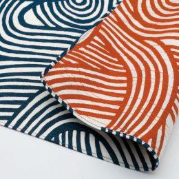 104 Isa monyo Reversible | Knot Blue:Orange
