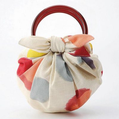 70 Modern-girl with Furoshiki Bag Rings | Dot Beige