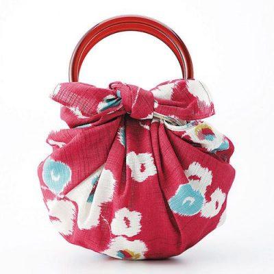 70 Modern-girl with Furoshiki Bag Rings | Japanese Apricot Red