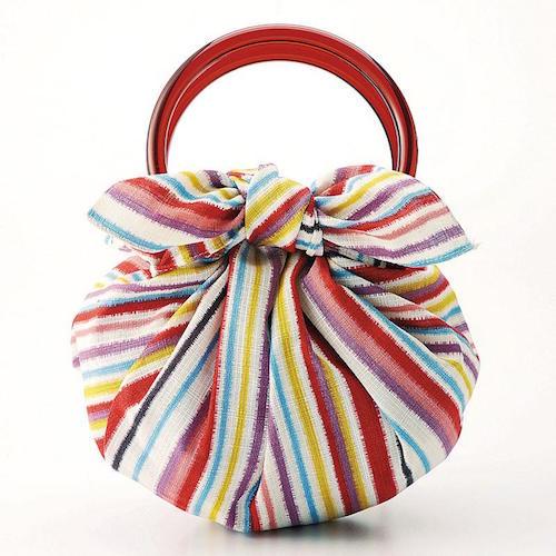 70 Modern-girl with Furoshiki Bag Rings | Stripe Multi