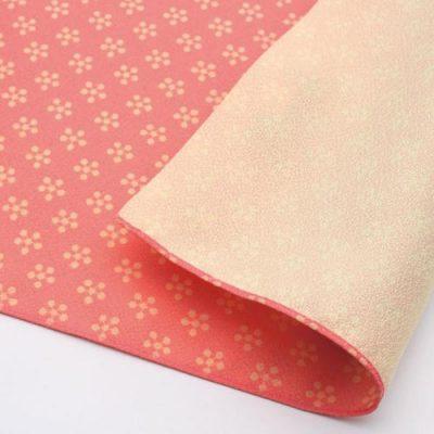 70 Toki-iro Reversible | Rikyubai (Japanese Apricot) Pink:Ecru