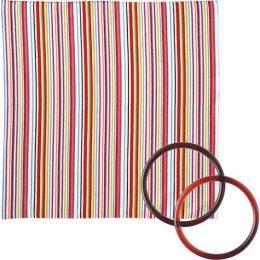 70 Modern-girl with Furoshiki Bag Rings | Stripe Multi2