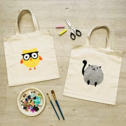 Sew-and-Paint a Tote Bag (Level 0)