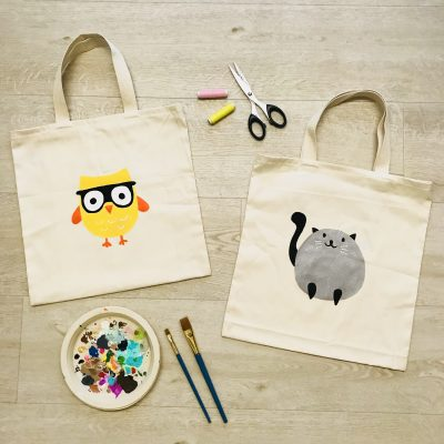 Hand Painted Tote Bag 1