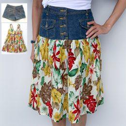 Upcycled: A-line Denim Skirt (Level 2)