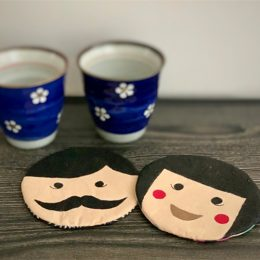 Sew-and-Paint Fabric Coasters