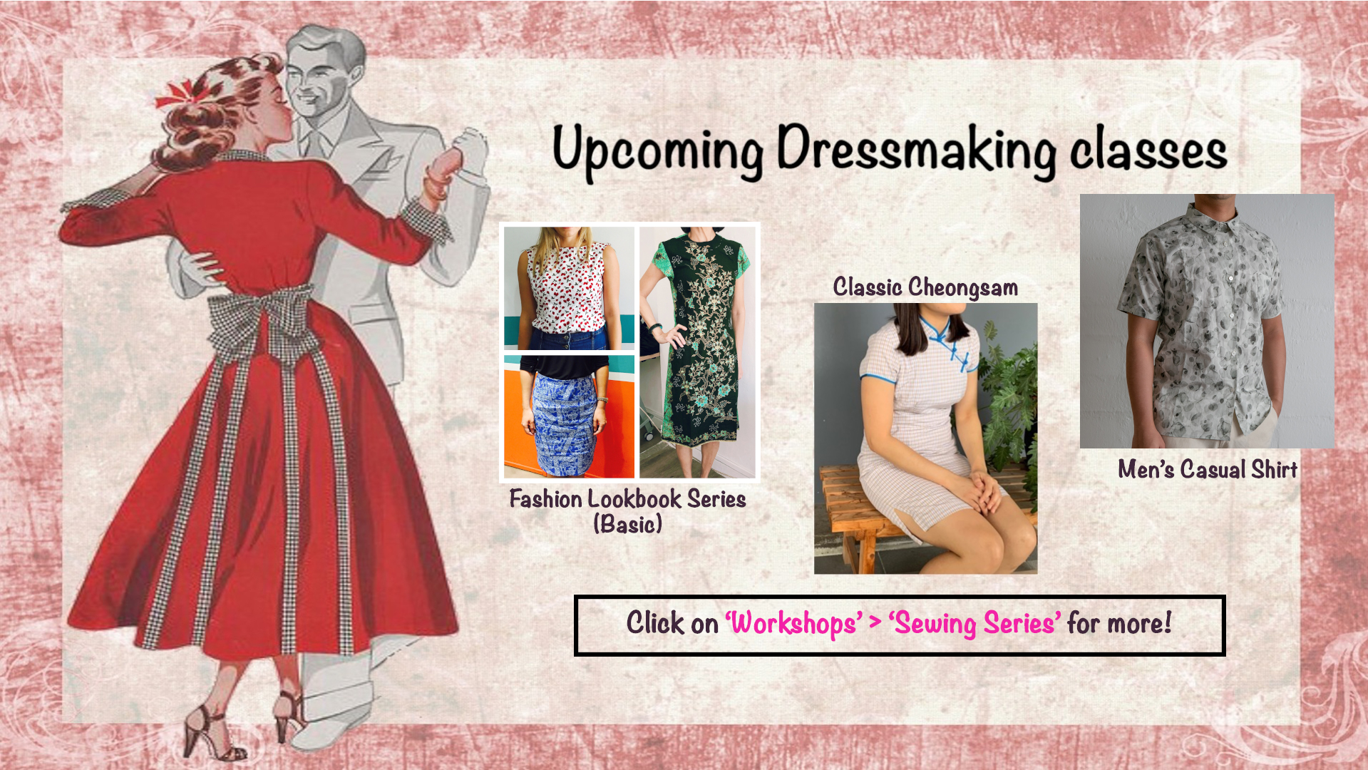 Upcoming Dressmaking classes