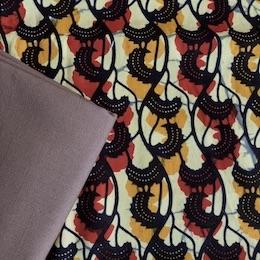 Batik with brown ties