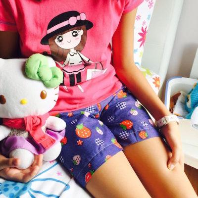 A sleep shorts