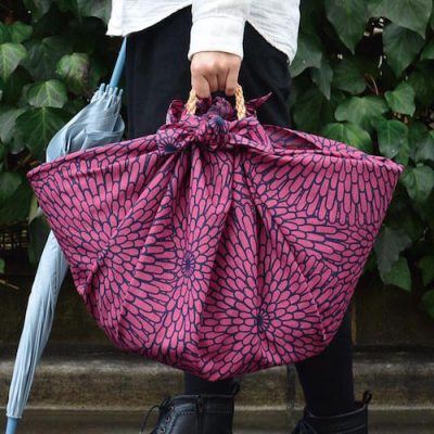 100 Isa monyo Water-repellent | Chrysanthemum Purple bag