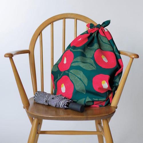 100 YUMEJI Water-repellent   Camellia Green bag